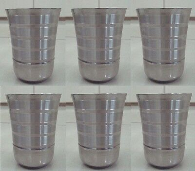 Stainless Steel Tumbler Glass Drink Coffee Mug Cup Camping  Set of 1 2 4 6 12