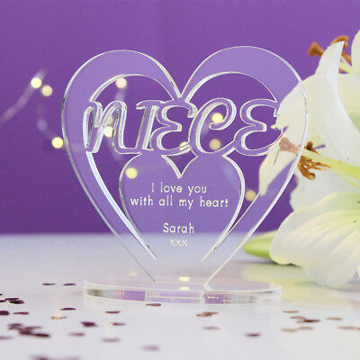 Personalised 80th Birthday Gift Heart With Message Free Standing