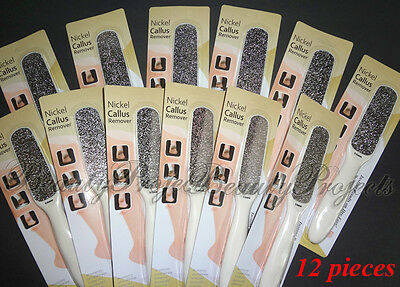 12pcs Nickel Callus File Extra Coarse Foot Pedicure Tool Removes dead skin NEW