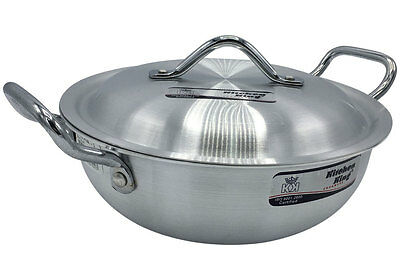 Kitchen King Aluminium Wok Stir Fry Saucepan Casserole Deep Fryer 23cm to 33cm