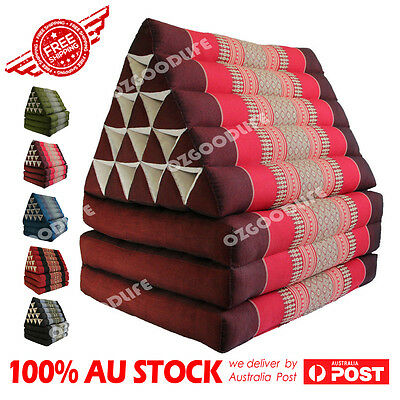 Jumbo SIZE 3-FOLDS Red Thai Triangle Pillow Mattress Cushion DayBed