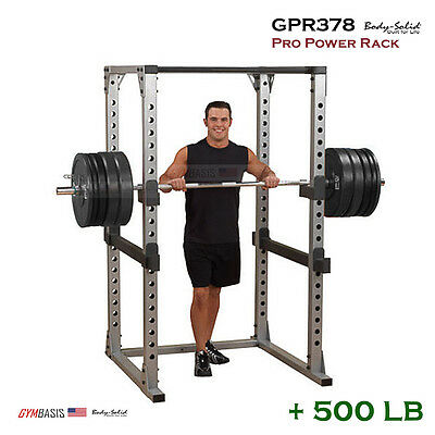 NEW Body Solid GPR378 Pro Power Rack + 500 Lb. Weight Olympic Set
