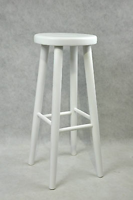 Bar stool wooden chair brand new beech solid wood bar pub White
