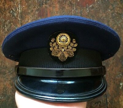 Rare 1950s Japanese National Railways Train Drivers Hat,vintage Japanese Rail