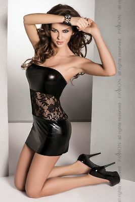 SeXy Mini Wet-Look Bandeau Kleid Gothic FeTisch DoMina Gogo WeTlook Minikleid