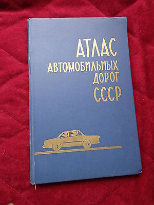 Soviet Russia Roads Atlas Map Scheme Book 1970
