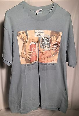 THE WHO SELL OUT 2000 Concert T-Shirt Men's L Blue Mod Townshend Daltrey Moon