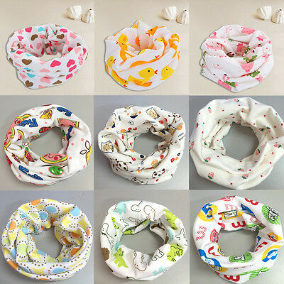 Fashion Girl Neck Scarves Boys Baby Bib Cartoon Children Scarf Collar 14 Colors