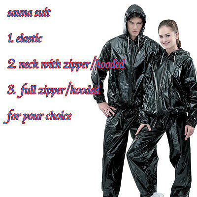 One set Heavy Duty PVC Sauna Suit loss weight Exercise Gym Fitness for women men