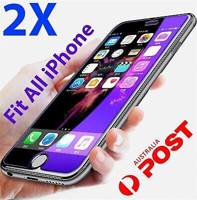 2x Tempered Glass Screen Protector iPhone XR 11 PRO Max X XS 7 6 6s plus 8 4 25r