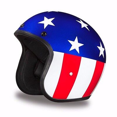 Easy Rider 1960's 3/4 Bobber Motorcycle Helmet by Daytona -Captain America!