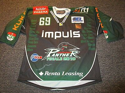Augsburger Panthers Hockey Jersey 2010 Finals Jersey Nike Bauer Rare! Germany