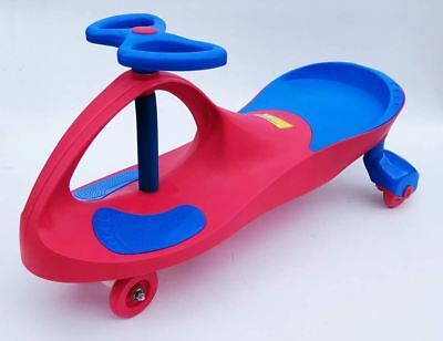 New Swing Swivel Scooter Car Ride Wiggle Gyro Twist Kids Ride Red Children