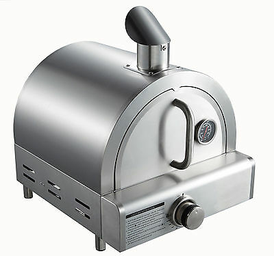 Table Top Pizza Oven LPG Gas Stainless steel Stone Pizza