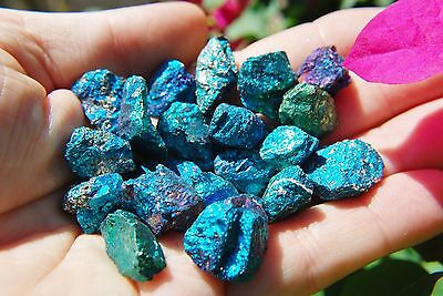 20 PCS AAA Grade CHARGED 650cts BABY PEACOCK™ ORE Chalcopyrite Crystals Healing