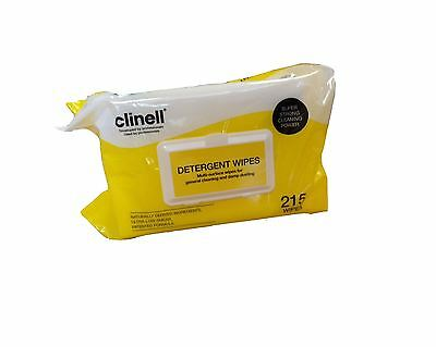 Clinell Detergent Wipes, 22 x 28cm,Pack of 215