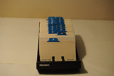 vintage desktop rolodex, Model No. NVIP-24, Rolodex Corp., Flips good
