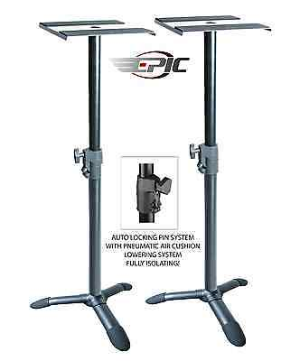 EPIC Studio Monitor Speaker Stands, Auto Locking Pin System, Ultra Stable Design