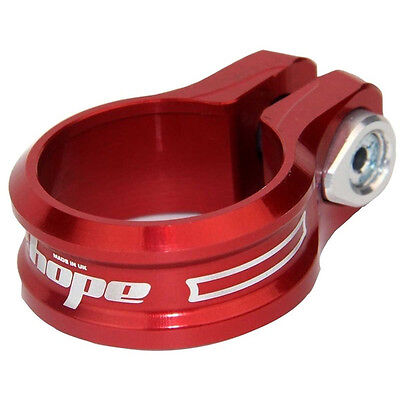 Hope Bolt On Seat Clamp 36.4mm Red - Brand New