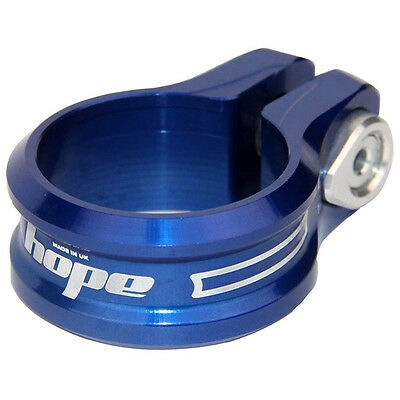 Hope Bolt On Seat Clamp 31.8mm Blue - Brand New