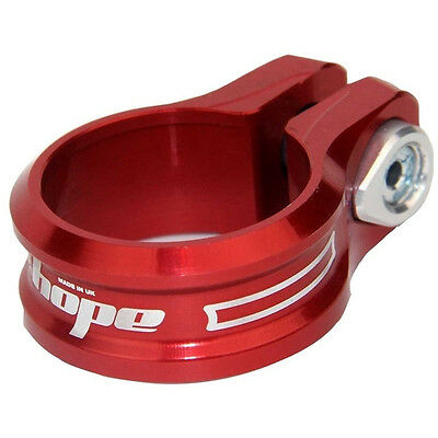 Hope Bolt On Seat Clamp 31.8mm Red - Brand New