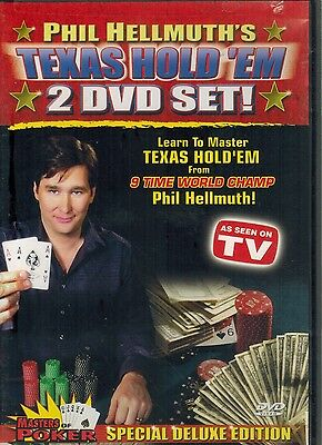 Phil Hellmuth's Texas Hold 'Em 2-DVD Set :Masters of Poker  HC SC BOOK