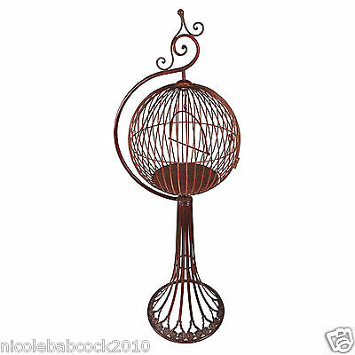 """47"""" Vintage Stylee Bird Cage & Stand Indoor Porch Patio Home Collectible Decor"""