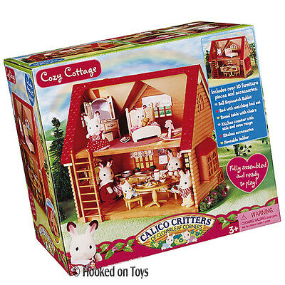 Calico Critters Cozy Cottage Starter Home - Figure, Furniture & House Set CC2055