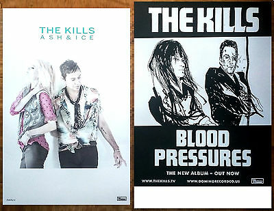 THE KILLS Ash & Ice   Blood Pressures Ltd Ed 2 RARE Posters Lot +FREE 3rd Poster