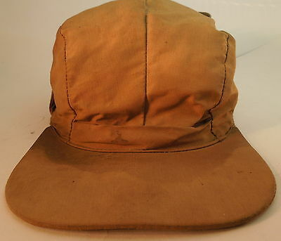 Vtg Small Men Eddie Bauer Goose Down Cold Weather Hunting Hat Cap Ear Flap Strap