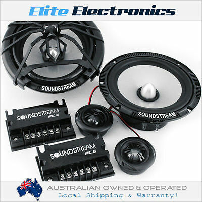 "Soundstream Pc.6 Picasso 100W 6.5"" Component Speaker System Splits Car 6-1/2"""
