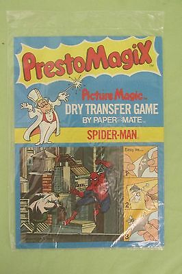 New Vintage 1978 Marvel PRESTO MAGIX Picture Magic Dry Transfer Game Spider-Man