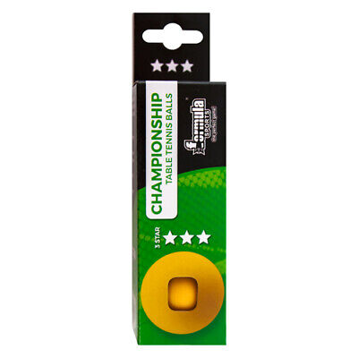 Boxed Formula Championship Table Tennis Ping Pong Balls 3 Orange 3 Star QUALITY