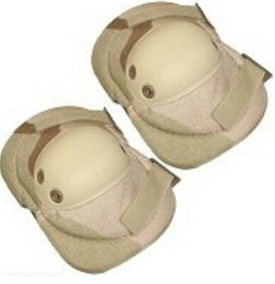 NEW Military Issue Tri-Color Desert Camouflage Elbow/Knee Pads 2 Per Set