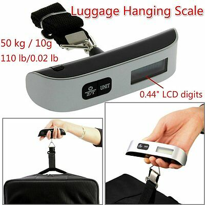 50kg/10g Portable LCD Digital Hanging Luggage Scale Travel Electronic Weight P5