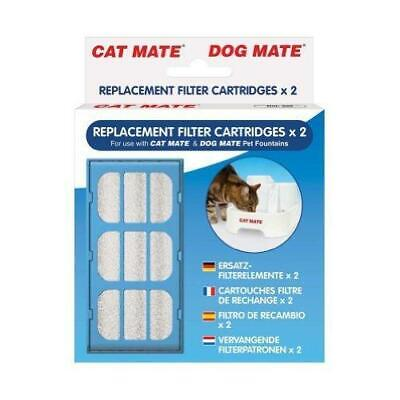 Replacement Filter Cartridges x 2 For Dog Mate Cat Mate Water Fountain