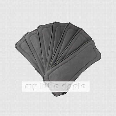 20 x 5-layer Reusable Bamboo Charcoal Inserts / Liners for Modern Cloth Nappies