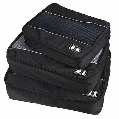 3 Pcs Packing Cube Bags Clothes Underwear Socks Storage Travel Luggage Organizer