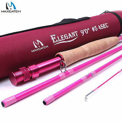 5WT Women's Pink Fly Rod 9FT 4SEC Medium-fast Fly Fishing Rod For Lady