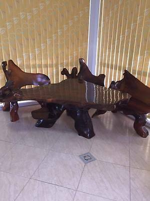 Antique table and chairs - 4 piece set