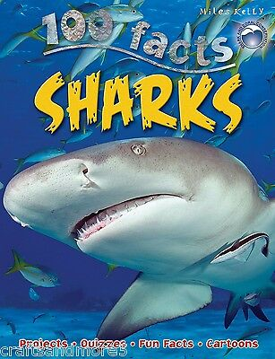 100 Facts Sharks by Miles Kelly Publishing Ltd (Paperback, 2015)