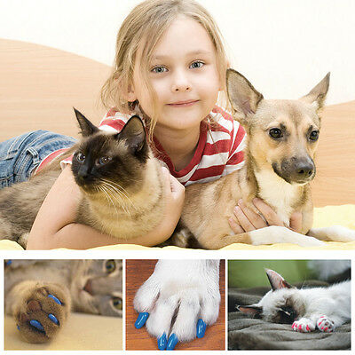 A set of 20Pcs Pet Cat Soft Claw Contrlo CaP Paws Grooming Off Nail