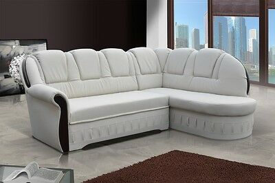 Brand New Modern Fabric Corner Sofa Bed LORD With Storage Box Left Right Hand