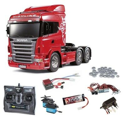 Tamiya Scania R620 3-Achs 6x4 Komplettset + LED, Kugellager - 56323SET2