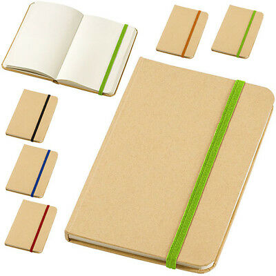 Notebook per Appunti Dictum con 80 Fogli A6 Bianchi Memo Block Notes Elastico