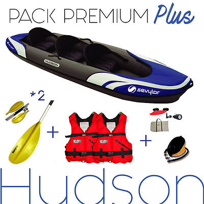 Pack kayak gonflable 2/3 places HUDSON SEVYLOR , NEUF.