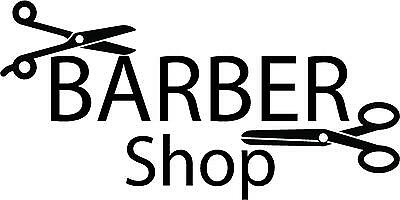 Barbershop Sign for shop window - Wall - Decals - Vinyl - Sticker - Wall Art 1