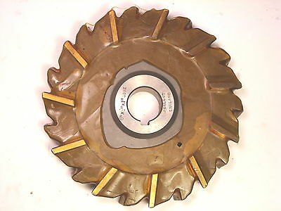 """NOS Qualcut UK Stagg Tooth Side & Face Horizontal Milling Cutter 6""""x3/4""""x1"""""""