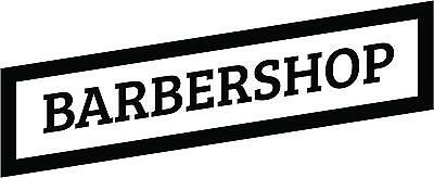 Large Barbershop Sign for shop window - Wall - Decals - Vinyl - Sticker Wall Art