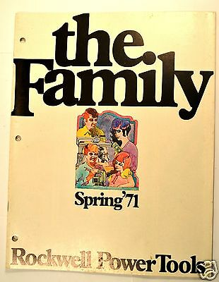THE FAMILY SPRING 1971 ROCKWELL POWER TOOLS CATALOG #RR39 saws sander router